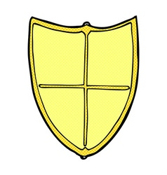 comic cartoon heraldic shield vector image
