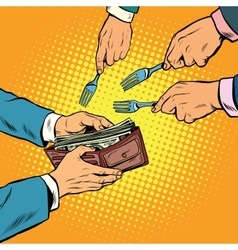 corruption and theft money vector image