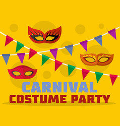 Costume party logo flat style vector