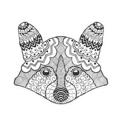 Cute raccoon head vector