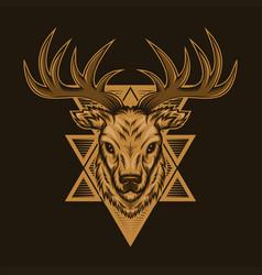 deer badge vector image