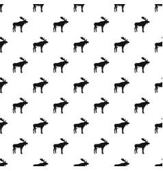 deer pattern vector image