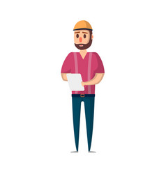 delivery service worker with checklist vector image