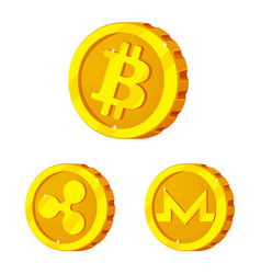 design of cryptocurrency and coin sign vector image