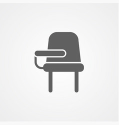 desk chair icon sign symbol vector image