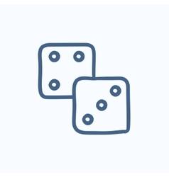 Dices sketch icon vector