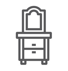 dresser line icon home and furniture cabinet vector image