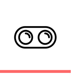 dual camera icon for web or mobile app vector image