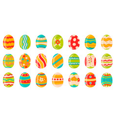 easter eggs cute spring decorative chocolate eggs vector image