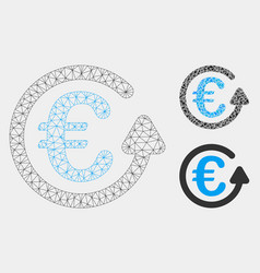 Euro chargeback mesh 2d model and triangle vector