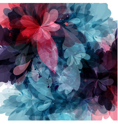 floral template with colorful psychedelic ornament vector image
