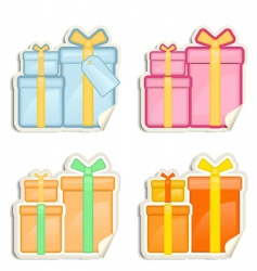 gift box stickers vector image