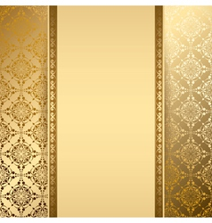 Gold background with vintage pattern vector