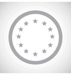 Grey European Union sign icon vector image