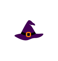 hat of icon halloween witchcraft the color vector image