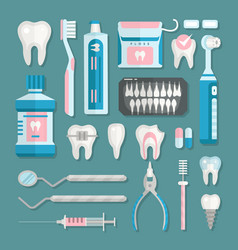 health care dentist medical tools medicine vector image