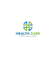 health care logo design inspiration vector image