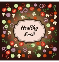 Healthy food template vector