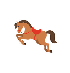 horse flat icon vector image