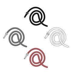 Hose icon icon cartoonblack single vector