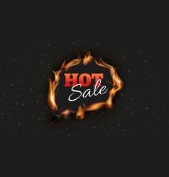 hot sale banner burn discount ads black vector image
