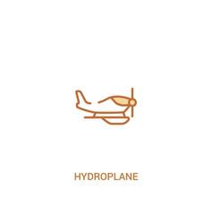Hydroplane concept 2 colored icon simple line vector