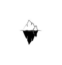 Iceberg logo black on white background vector