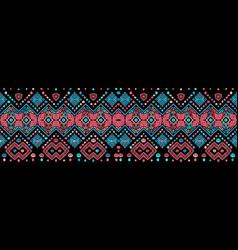 ikat seamless pattern tribal art print chevron vector image