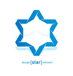 Imitation of Origami David Star from paper vector image