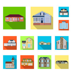 isolated object of building and front sign vector image
