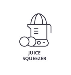Juice squeezer line icon outline sign linear vector