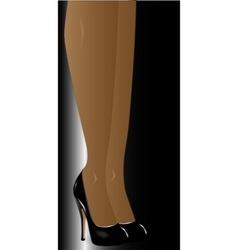 Legs with Stiletto Heals vector