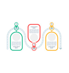 long-term goals achieving infographic template vector image