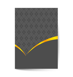 Luxury premium cover page design for menu vector