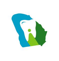 modern tooth logo design dentist stomatology vector image