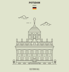 Old town hall in potsdam vector