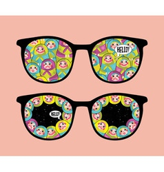 Patterned Glasses vector image