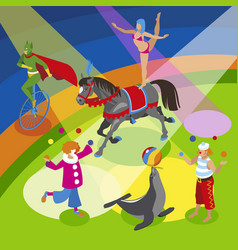 performers and entertainment composition vector image