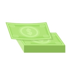 Pile of cash icon in cartoon style isolated on vector image