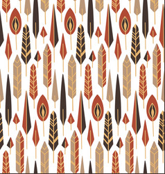 Seamless tribal texture with vertical boho vector