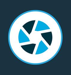 Shutter icon colored symbol premium quality vector
