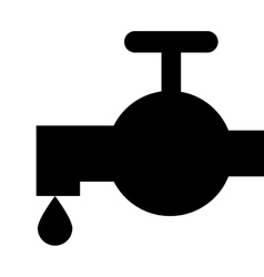 Silhouette faucet icon vector