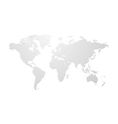 Simple blank world map vector