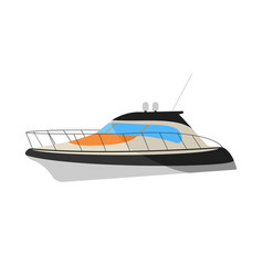 speedboat flat icon and sign vector image