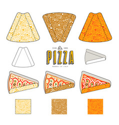 Stock design of package for pizza slices vector