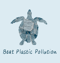 Stop trashing our earth vector