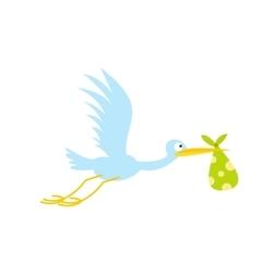 Stork baflat icon vector