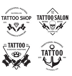 tattoo studio logo templates on white vector image