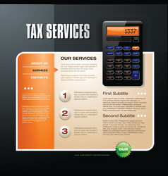 tax firm web template vector image
