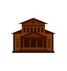 Theater building icon flat style vector